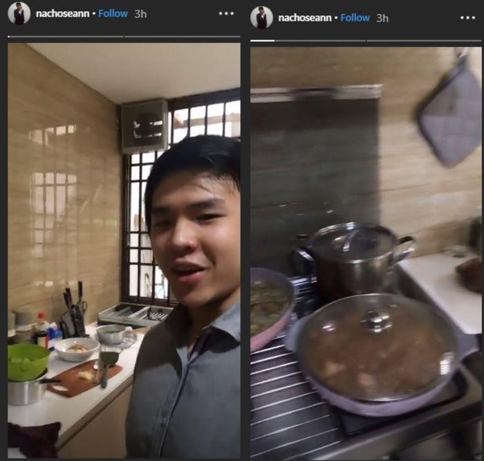 Sean tunjukkan dapur di rumah keluarga Ahok di Malam Thaun Baru Imlek 2019