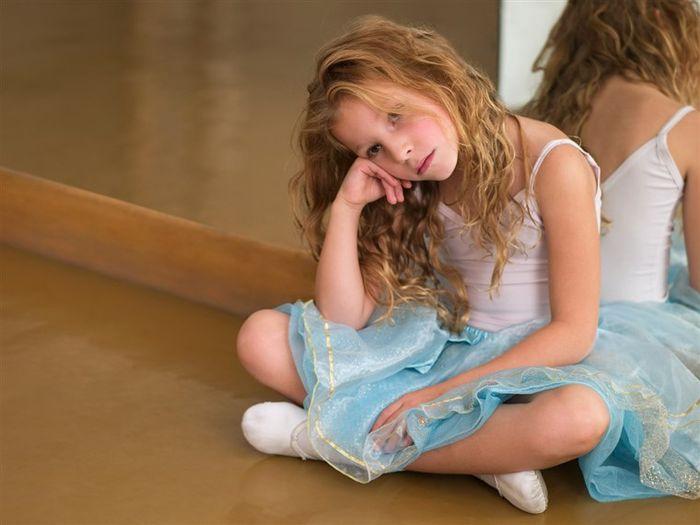 Ilustrasi anak kelelahan sekolah.