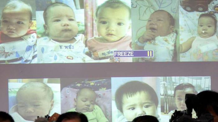 Dalam persidangan ditampilkan foto-foto yang diyakini anak dari Shigeta