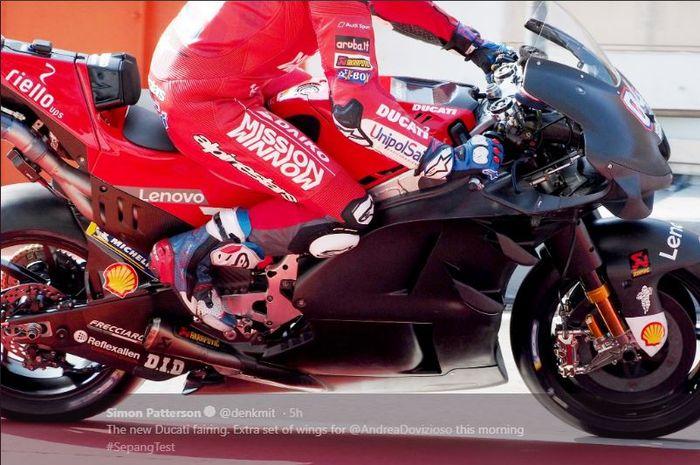Fairing motor Ducati yang digunakan Andrea Dovizioso.