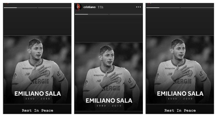 Instastory Instagram Cristiano Ronaldo, Jumat (8/2/2019).