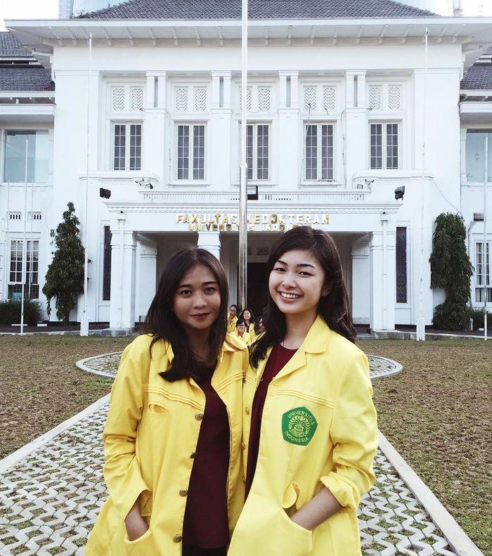 Elisa Jonathan menempuh pendidikan di Fakultas Kedokteran Universitas Indonesia. (Instagram/elisajonathan)