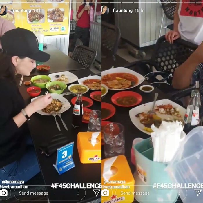 Jelang Pernikahan Reino Barack dan Syahrini, Luna Maya Tertangkap Kalap Makan Bersama Penyiar Kondang Ini