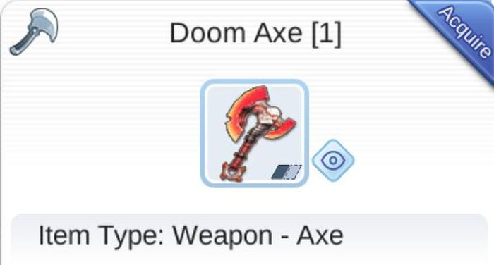 Weapon : Doom Axe
