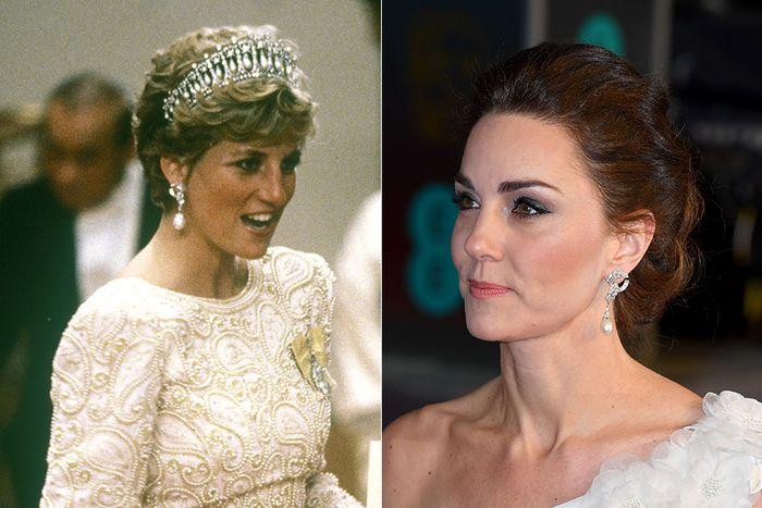 Kate juga menggunakan anting milik Putri Diana