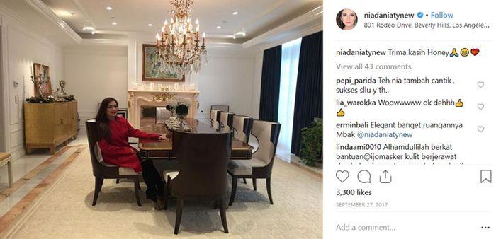 Mantan Suami Terlibat Kasus, Nia Daniaty Pamer Ruang Makan Hingga Dapur Mewah, 'Terima Kasih Honey'