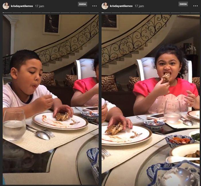 Dua anak Krisdayanti (Instagram)