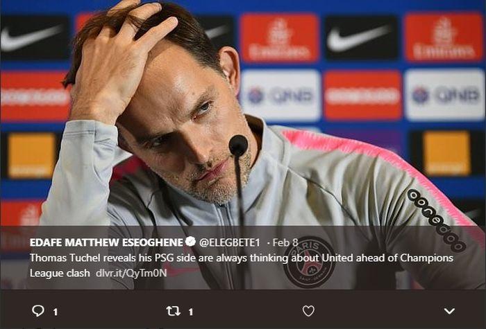 Pelatih Paris Saint-Germain, Thomas Tuchel menyebut timnya akan tampil menyerang meskipun tanpa Neymar dan Cavani saat melawan Manchester United.