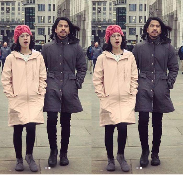 Fashion kompak bareng Ayah ala Kyra Wahab dan Aryo Wahab