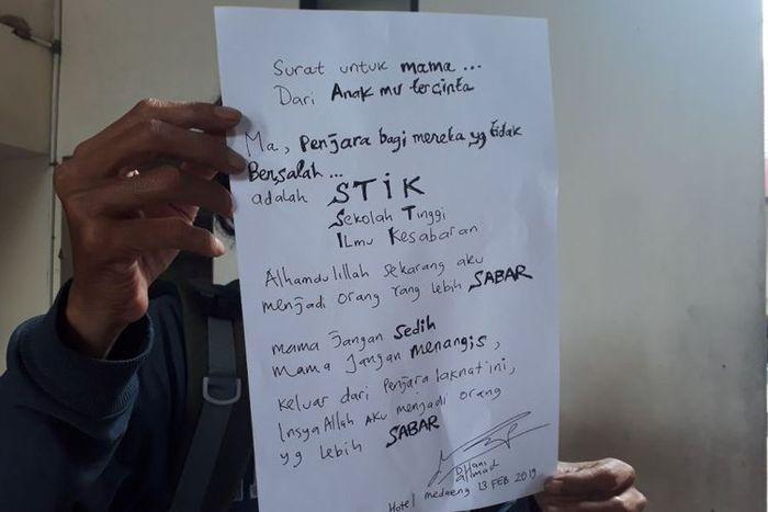 Surat Ahmad Dhani untuk sang bunda