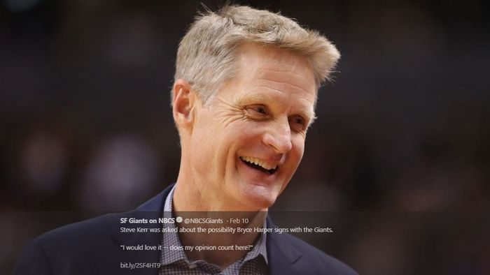 Pelatih Golden State Warriors, Steve Kerr.