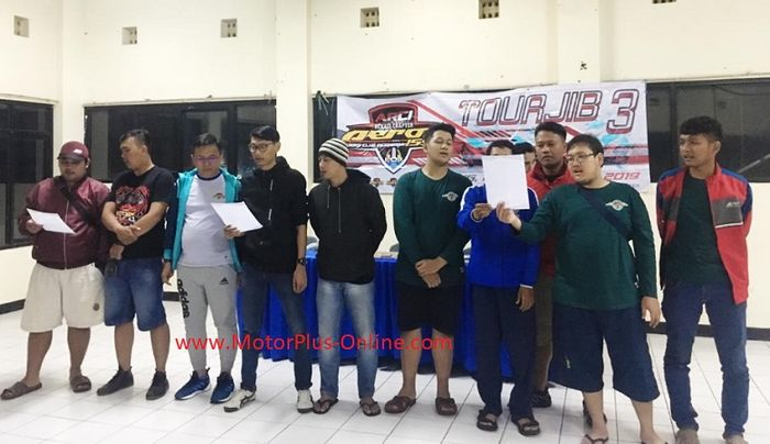 Touring Wajib ke-3  ARCI Bekasi Chapter sekaligus pelantikan member baru.