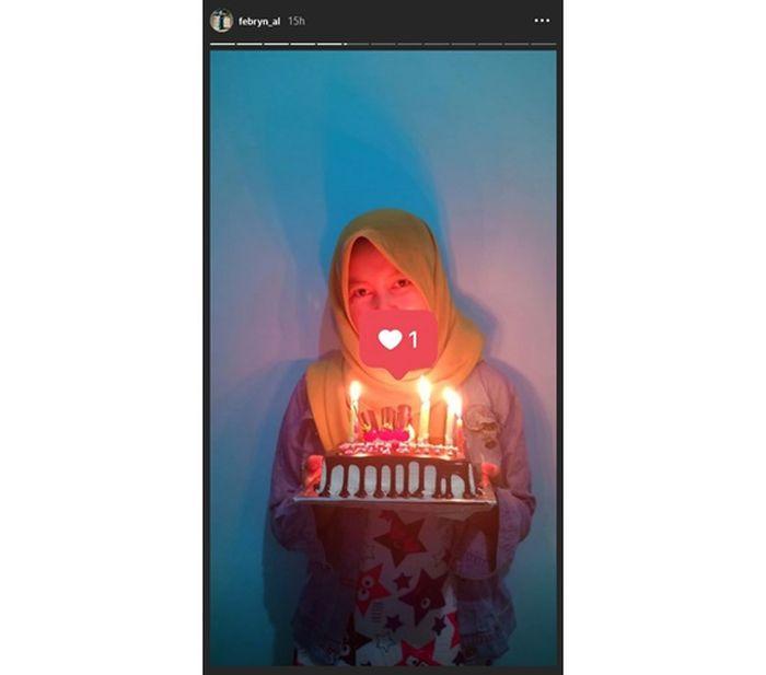 Hasil tangkap layar Instagram Febrian Alia.