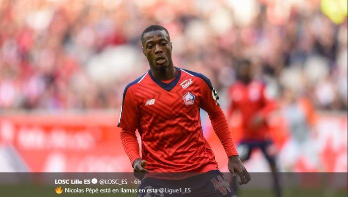 Pemain LOSC Lille, Nicolas Pepe disebut-sebut akan hengkang menyusul banyaknya peminat terhadap sang pemain.