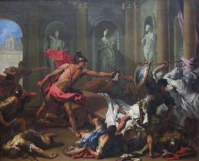 Lukisan, Perseus Menghadapi Phineus dengan Kepala Medusa oleh Sebastiano Ricci
