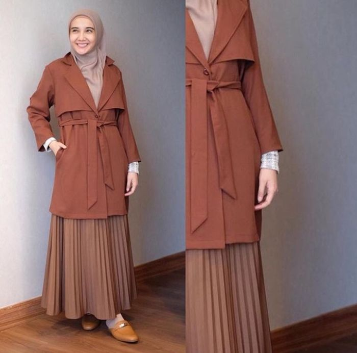 Warna Jelbab Yg Cocok Untuk Baju Krim / Baju Abu Abu Polos