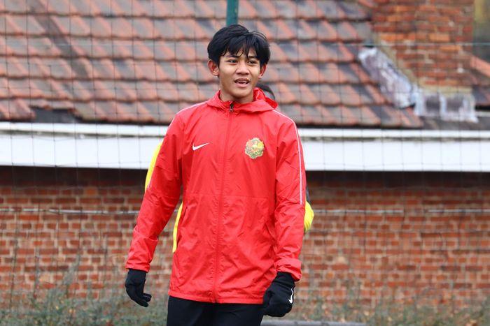 Firza Andika saat melakoni trial bersama klub Belgia AFC Tubize.