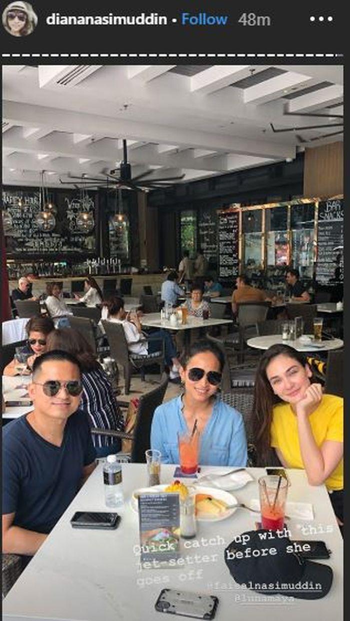 Luna Maya menghabiskan makan bersama keluarga Faisal Nasimuddin.