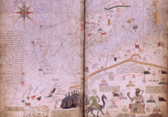 Catalan Atlas yang merupakan peta hasil dari perjalanan Mansa Musa selama beribadah Haji