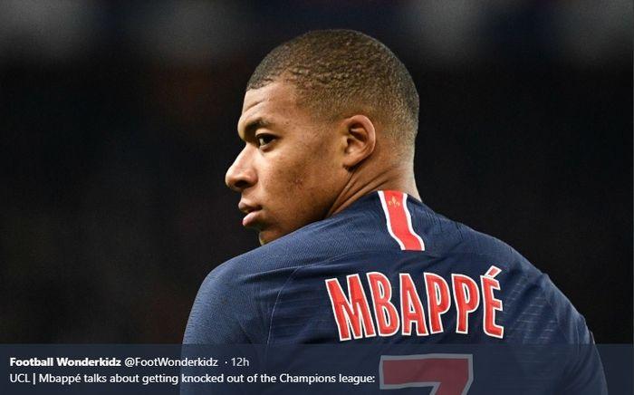 Penyerang muda Paris Saint-Germain, Kylian Mbappe