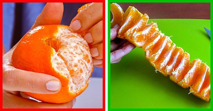 Mengupas jeruk yang benar