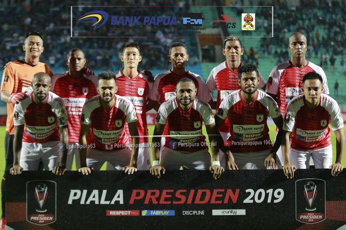 Skuat Persipura di Piala Presiden 2019.