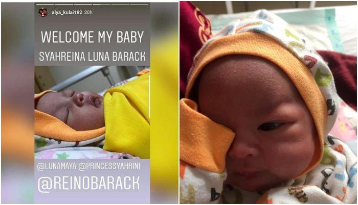Anak yang diberi nama Syahreina Luna Barack