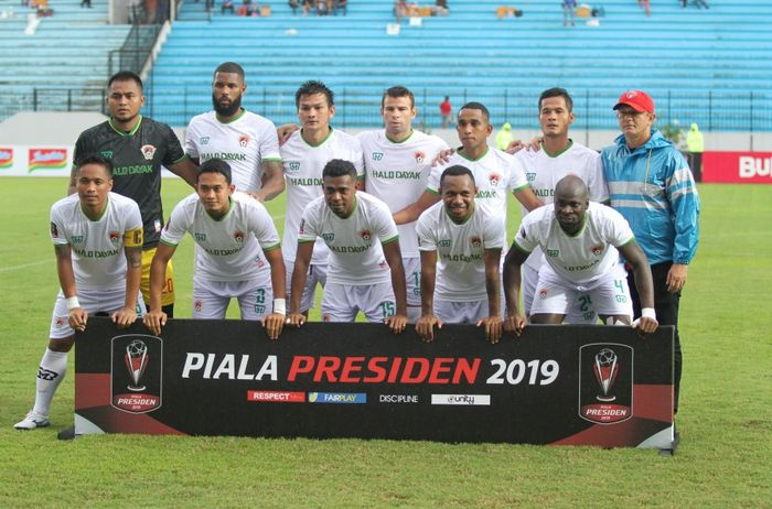 Skuat Kalteng Putra di ajang Piala Presiden 2019.