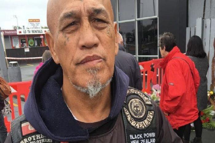 Salah satu anggota Black Power yang melayat