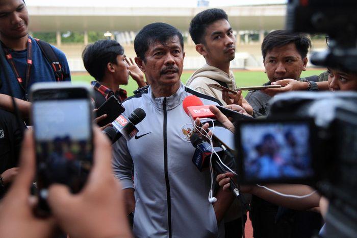 Pelatih timnas U-23 Indonesia, Indra Sjafri, menyampaikan daftar pemain untuk kualifikasi Piala Asia U-23 2020.