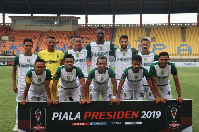 Skuat Persebaya Surabaya di Piala Presiden 2019.