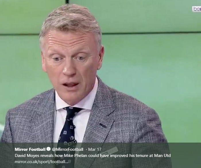 Mantan manajer Manchester United dan Everton, David Moyes
