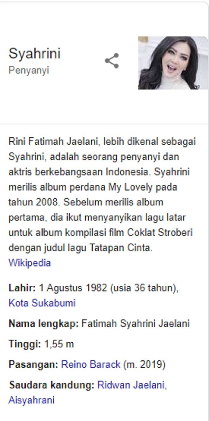 tahun lahir Syahrini 1982