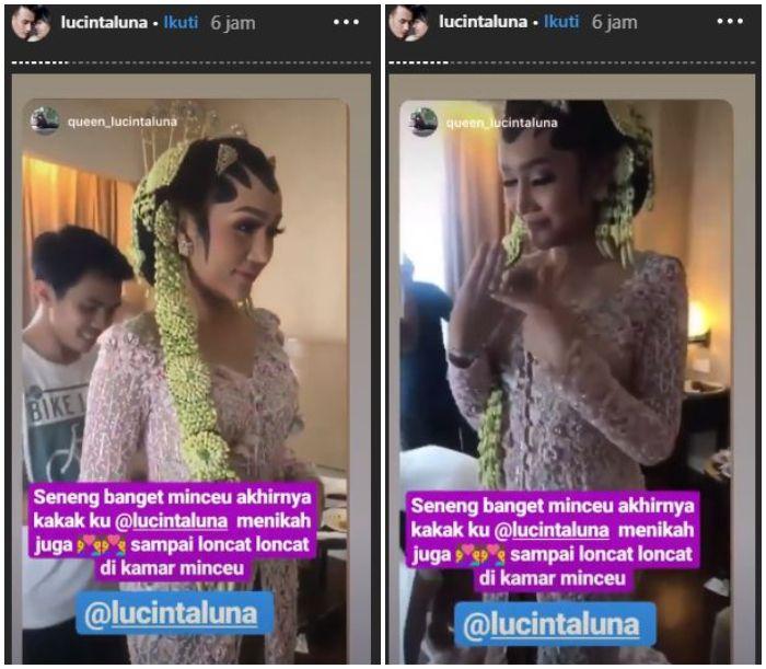 Mengaku telah resmi menikah, Lucinta Luna kenakan busana pengantin adat Jawa Tengah.