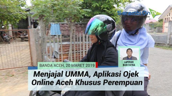 UMMA, aplikasi ojek online khusus perempuan di Aceh