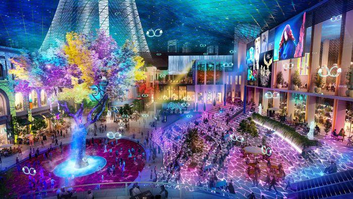 Tempat ini memiliki fasilitas hiburan berteknologi tinggi, tempat konser, dan ruang pameran. (cnn.com)
