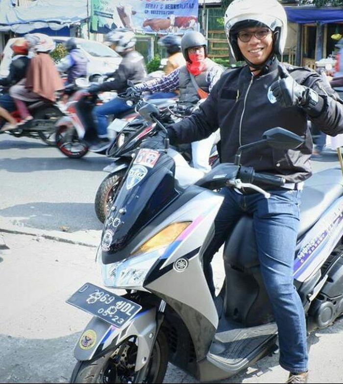 Susanto pengguna Yamaha Lexi dari Bandung