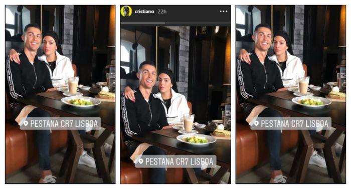 Instastory Instagram Cristiano Ronaldo, Selasa (26/3/2019).