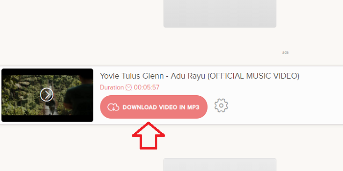 Klik tombol download video in mp3