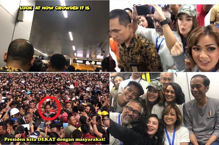 Kondisi saat jajal MRT Jakarta dan peresmian MRT oleh Presiden Jokowi