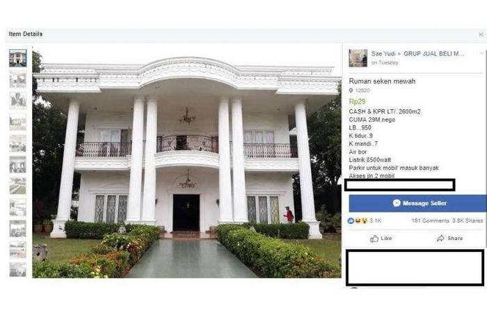 Rumah <a href='https://bangka.tribunnews.com/tag/sinetron' title='Sinetron'>Sinetron</a> yang viral