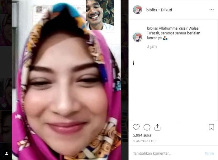 Video call Bibi dan Vanessa