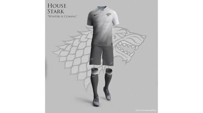 Seragam sepak bola ala Game of Thrones yang dibuat oleh desainer Nerea Palacios.