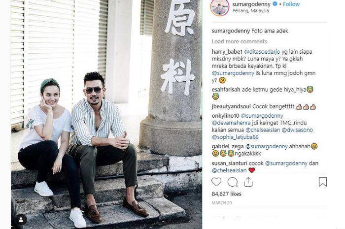 Unggahan foto Denny Sumargo yang dibanjiri berbagai komentar dari para netizen