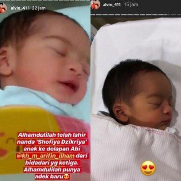 Anak kedelapan Arifin Ilham yang baru lahir Instagram