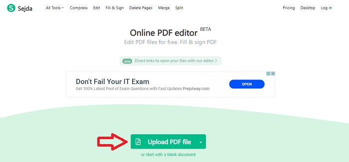 Upload file pdf pada kolom yang sudah disediakan