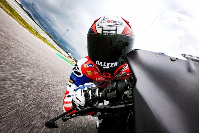 Francesco Bagnaia, saat turun di MotoGP Argentina, Minggu (31/3/2019)
