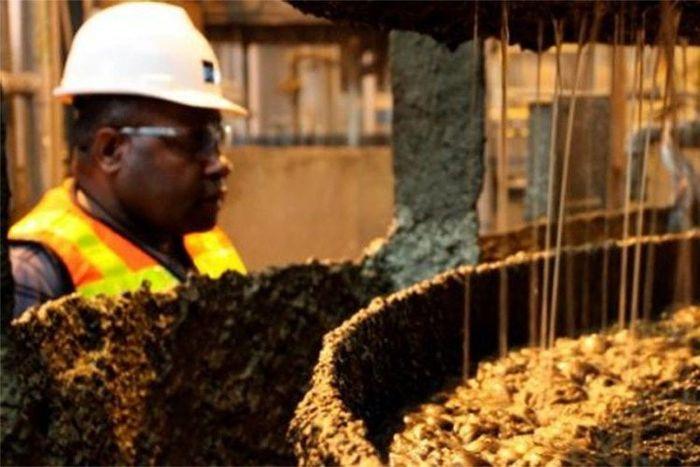 Proses pengolahan emas di Freeport Papua
