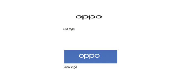 Perbandingan logo OPPO lama dan Baru