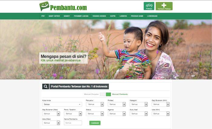 Situs penyalur pembantu, Pembantu.com